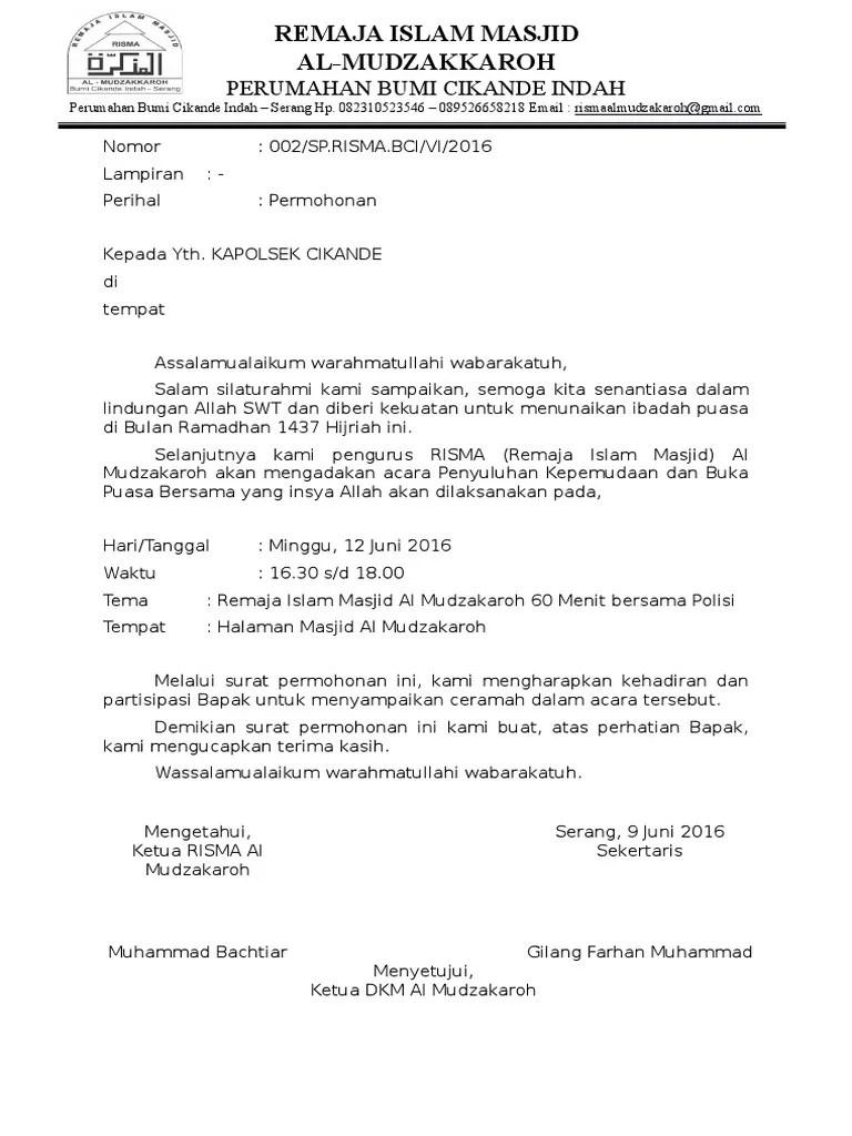 Surat Undangan Kepolisian
