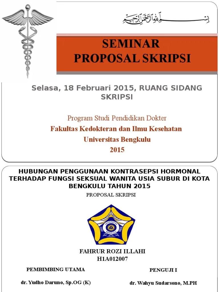 Ppt Sidang Proposal : sidang, proposal, Skripsi, Kedokteran
