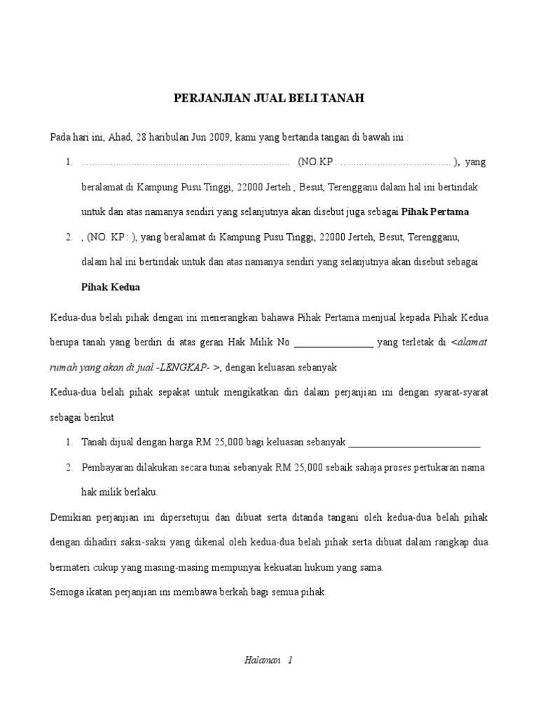 Contoh Surat Pengesahan Hak Milik Tanah Download Kumpulan Gambar