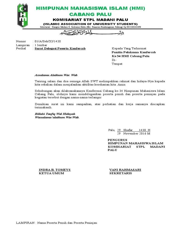 45+ Contoh surat resmi hmi terbaru terbaru