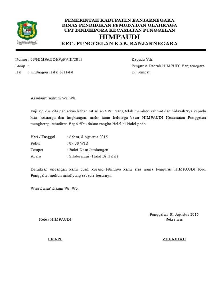 Undangan Halal Bi Halal Himpaudi