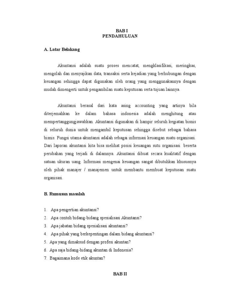 Contoh Makalah Karya Ilmiah Tentang Akuntansi Contoh Surat