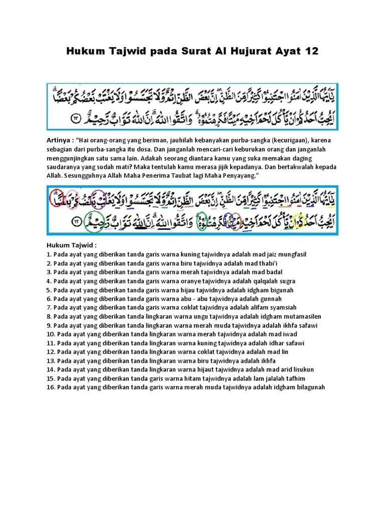 Tajwid Surat Al Hujurat Ayat 10 : tajwid, surat, hujurat, Tajwid, Surat, Hujurat