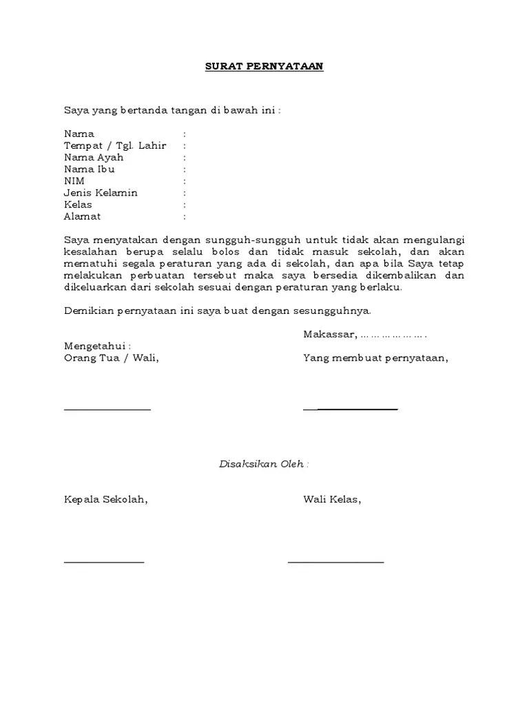 25+ Contoh surat pernyataan tidak mengulangi kesalahan terbaru terbaru
