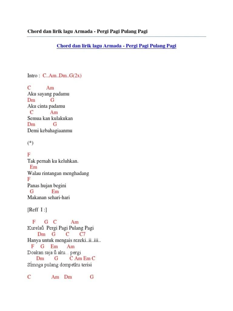 Chord I Will Armada : chord, armada, Sayang, Padamu, Armada, Chord