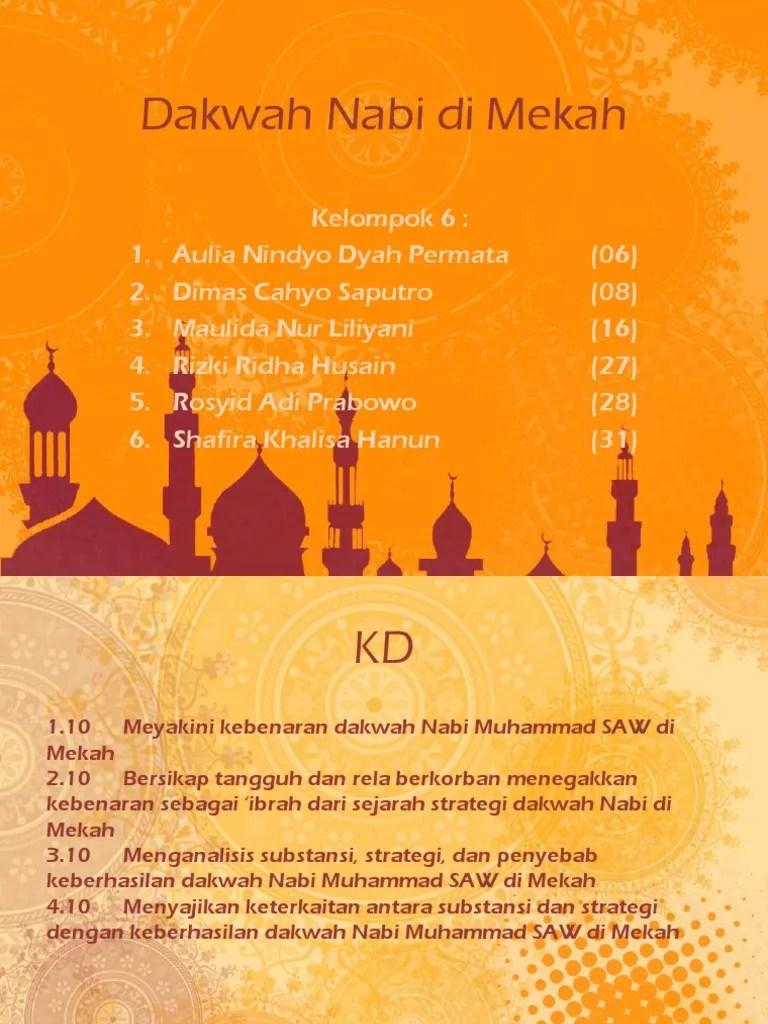 Substansi Dakwah Rasulullah Di Mekkah : substansi, dakwah, rasulullah, mekkah, Substansi, Dakwah, Rasulullah, Mekkah