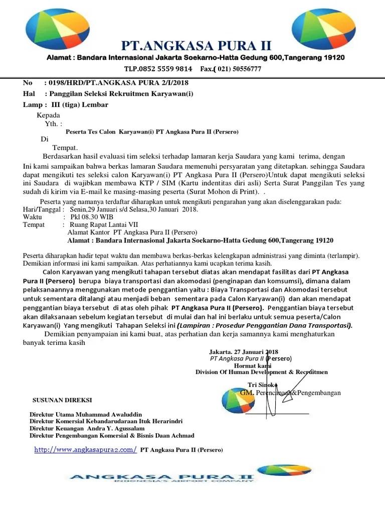 Contoh Surat Balasan Lamaran Pekerjaan Berupa Penolakan Contoh Surat