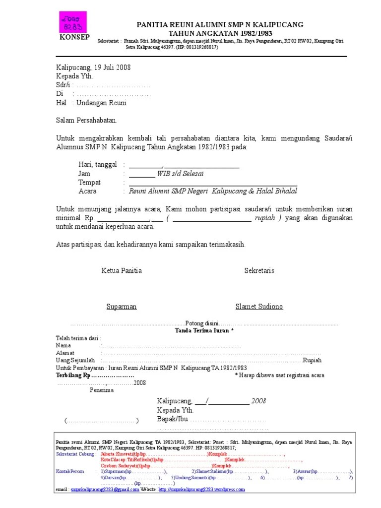Surat Undangan Smp N 1 8283 Doc