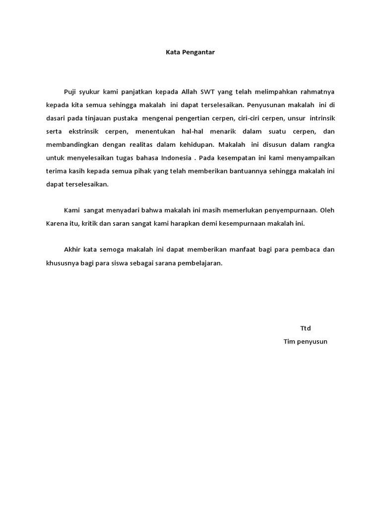 16 Makalah Contoh Cerpen Sastra Indonesia