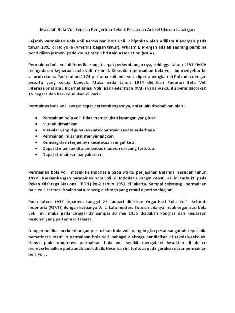 Organisasi Bola Voli : organisasi, Artikel, Makalah