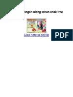 Desain Undangan Ulang Tahun Anak Free Download