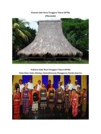 Rumah Adat Dan Pakaian Adat Nusa Tenggara Timur