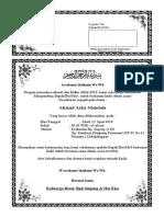311299560 Contoh Undangan Aqiqah Doc Simpel Kertas F4 Dibagi 2 Docx
