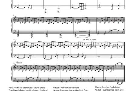 Free Sheet Music » free printable piano sheet music for hallelujah ...