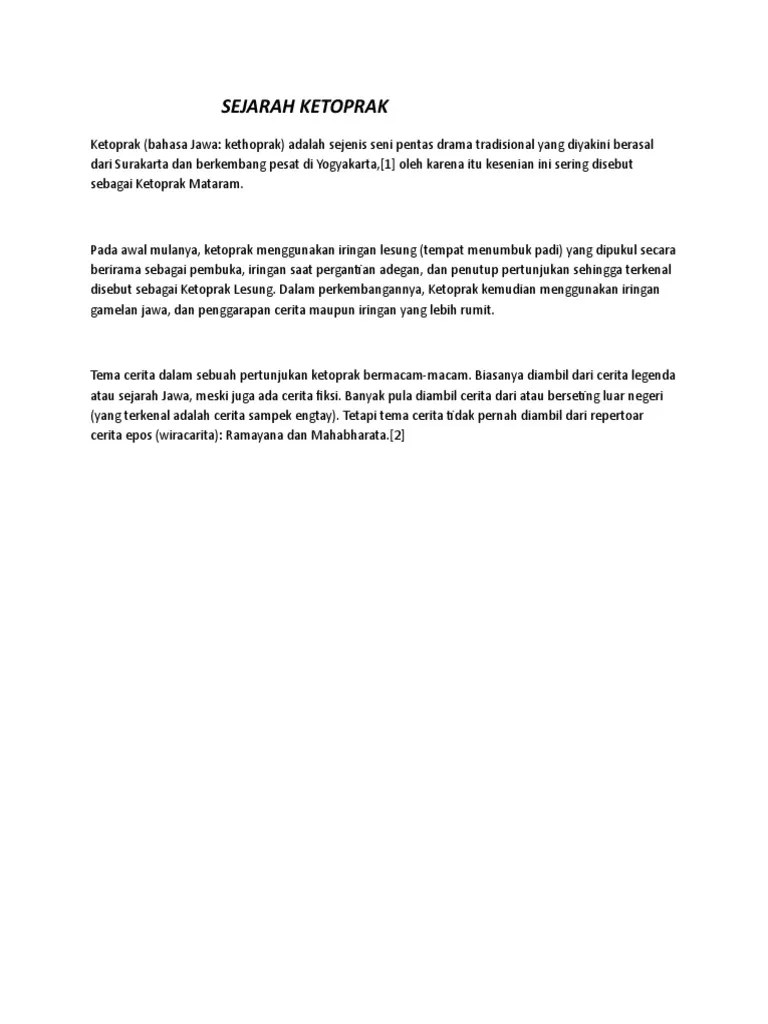 Pengertian Ketoprak Dalam Bahasa Jawa : pengertian, ketoprak, dalam, bahasa, Contoh, Makalah, Ketoprak, Dalam, Bahasa