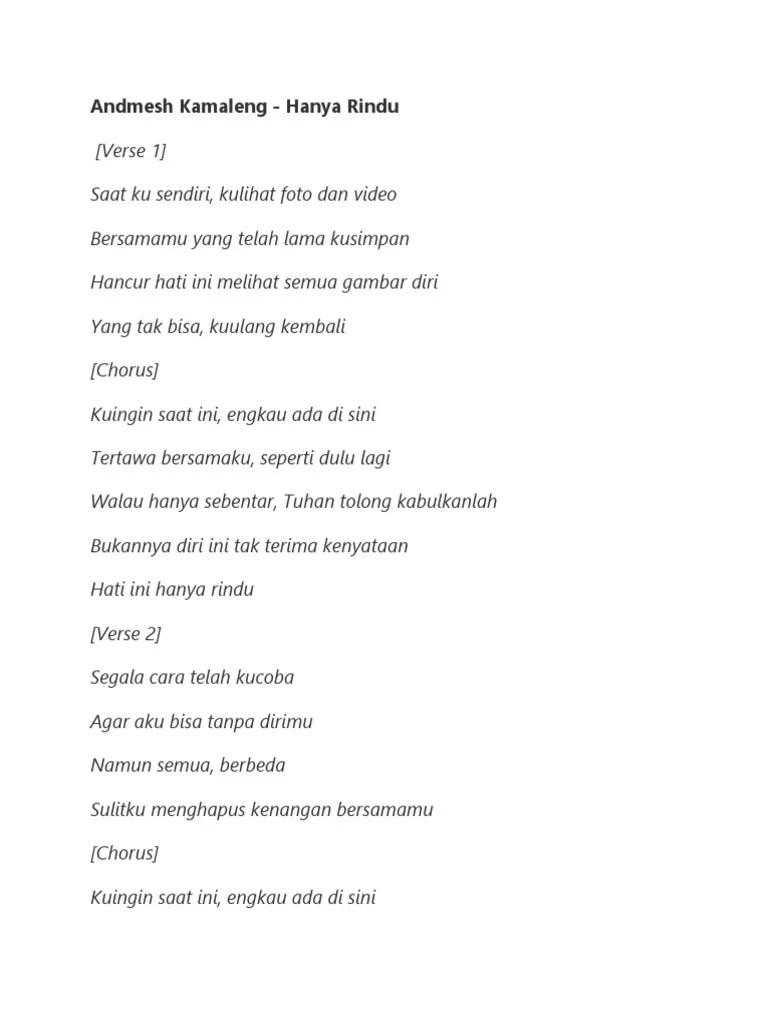 Hanya Rindu Lirik : hanya, rindu, lirik, Lirik, Hanya, Rindu