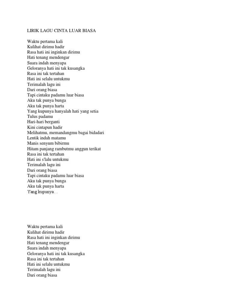 Lirik Lagu Waktu Pertama Kali