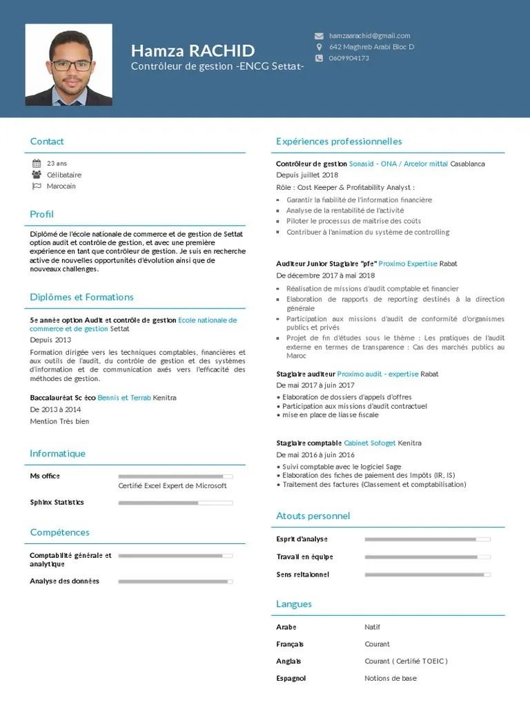 Cv Audit Comptabilite