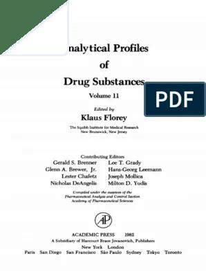 11 Analytical Profiles Of Drug Substances 11 Klaus Florey Eds Academic Press 1982 Pdf Chromatography Thin Layer Chromatography