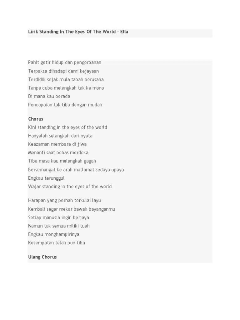 Lagu Daerah Melayu : daerah, melayu, Lirik, Standing, World, English, Version