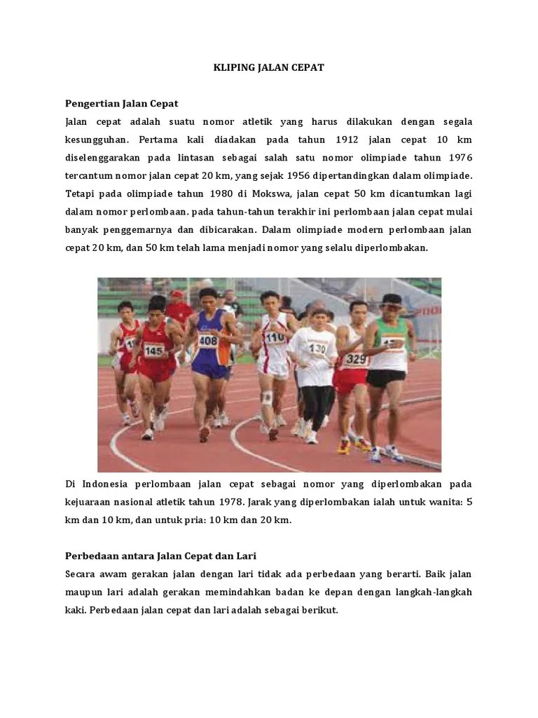 Artikel Atletik Lari : artikel, atletik, Makalah, Atletik, Jalan, Cepat