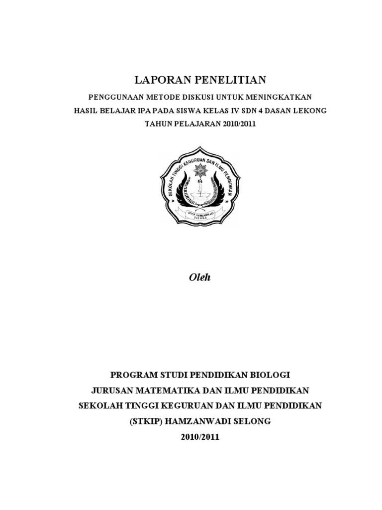 16 Contoh Laporan Penelitian Ipa