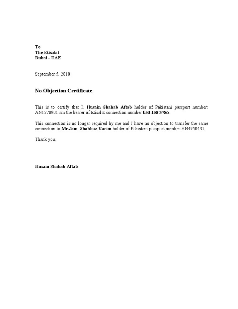 No Objection Certificate Template template secret santa wish list – No Objection Letter for Passport