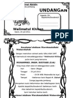 Contoh Surat Undangan Khitanan