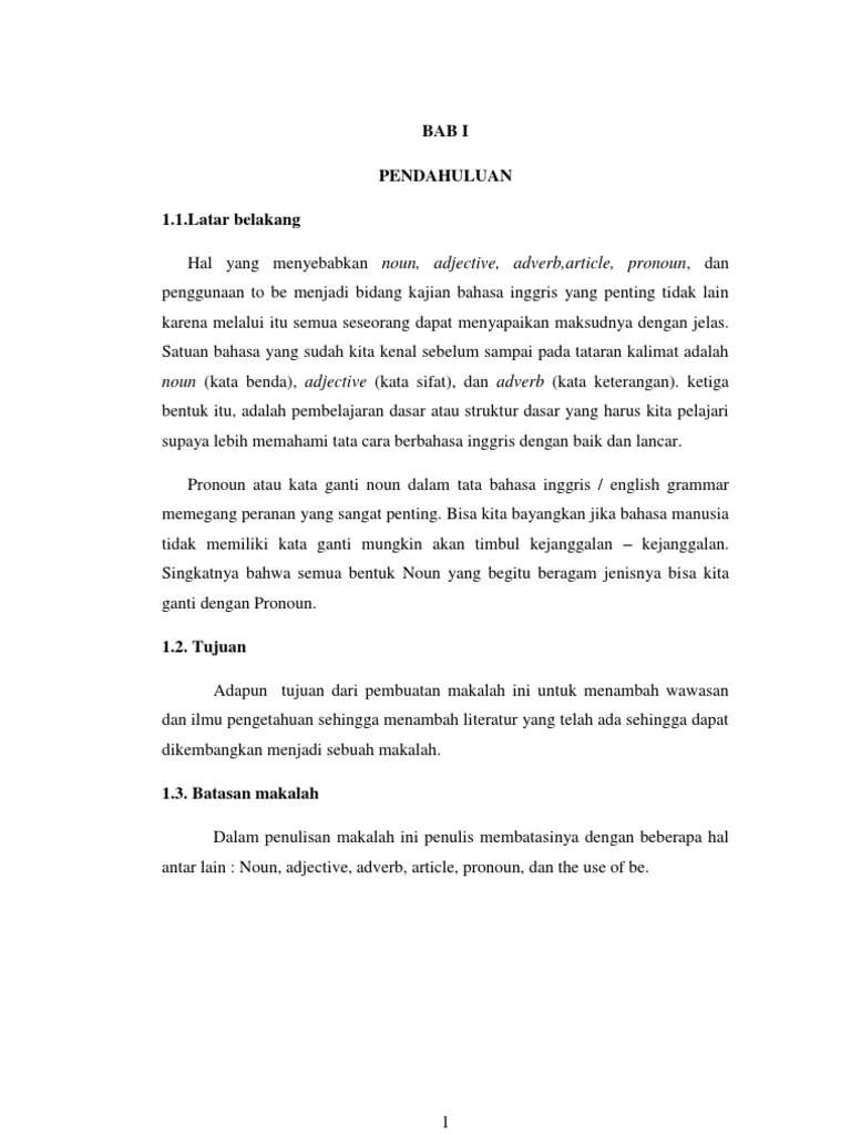 19 Makalah Pronoun Dalam Bahasa Inggris