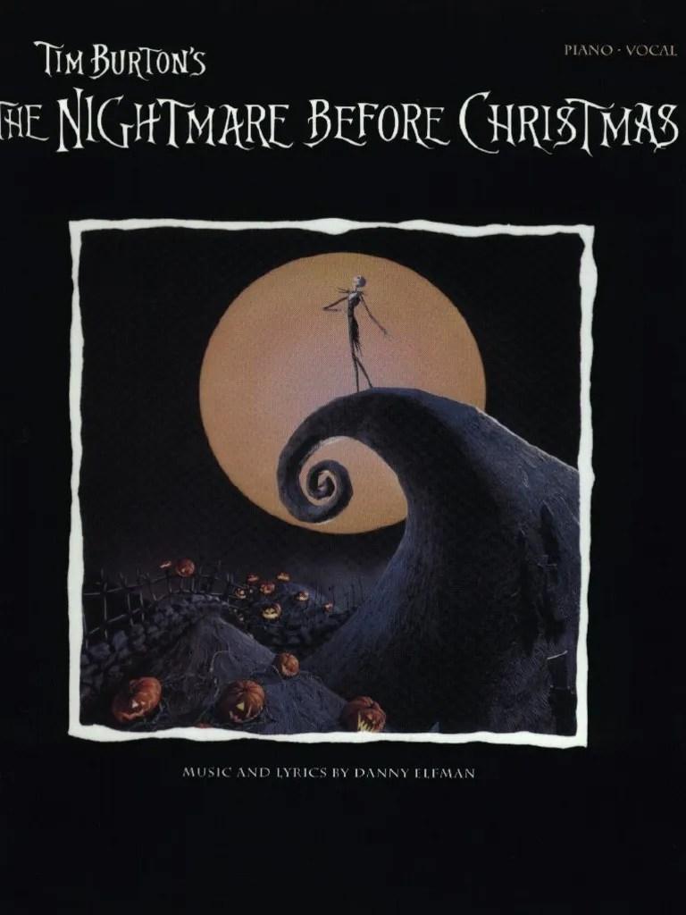 Nightmare Before Christmas Danny Elfman Sheet Music
