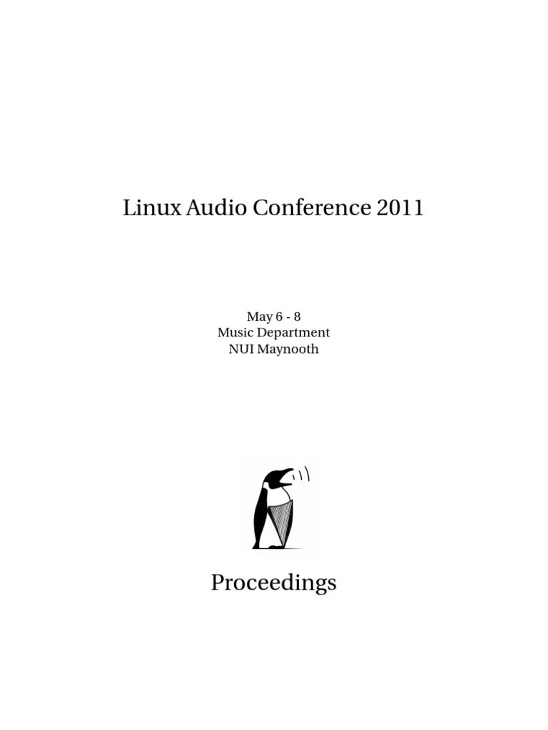 Linux audio conference 2011 proceedings widget gui software engineering