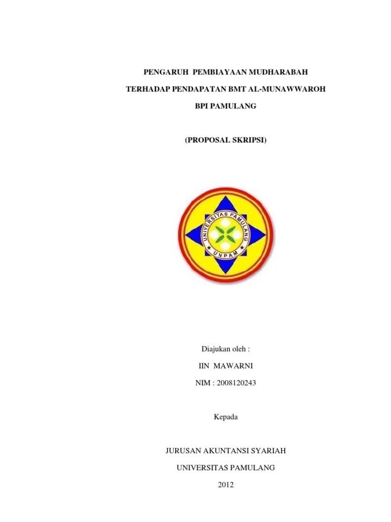 15 Contoh Skripsi Akuntansi Syariah Mudharabah