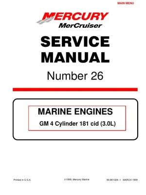 Mercruiser 4 Cyl 30 Service Manual | Gasoline | Internal