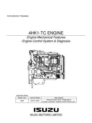 NPR MANUAL Y DIAGRAMA MOTOR ISUZU 729_4HK1_Trainingpdf | Internal Combustion Engine | Turbocharger