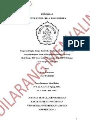 18 Judul Judul Skripsi Psikologi Eksperimen Download