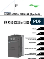 Mitsubishi F700 VFD Instruction ManualApplied | Power