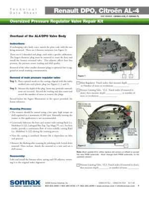 AL4 DPO Peugeot, Renault, Citroen Overhaul AL4 DPO Valve Body TECH Line pressure problem and