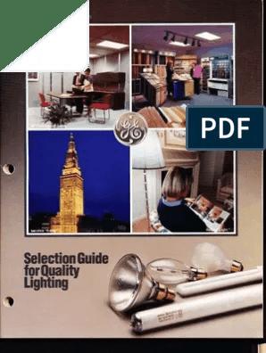 ge 1987 lamp catalog fluorescent lamp