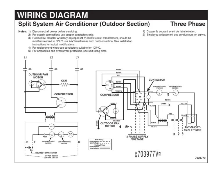 Wiring DiagramSplit System Air Conditioner