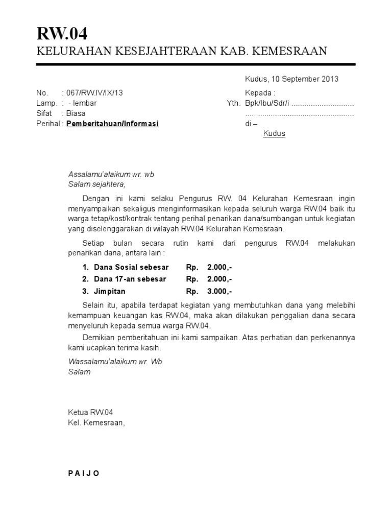 Kumpulan Contoh Surat Edaran Kegiatan Lomba 17 Agustus Hut