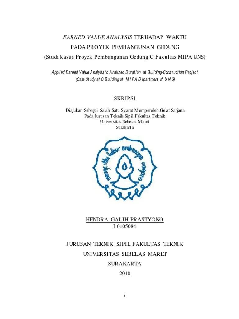Contoh judul skripsi teknik sipil manajemen konstruksi pdf