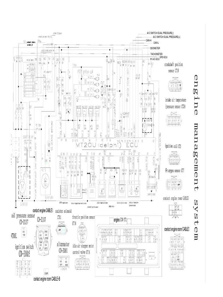 Great Wall MT20U Delphi ECU Wiring Diagram