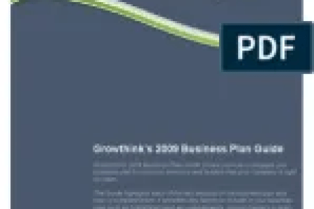 Growthink Business Plan Template Download   Free PDF   Business Plan     Business Plan Guide