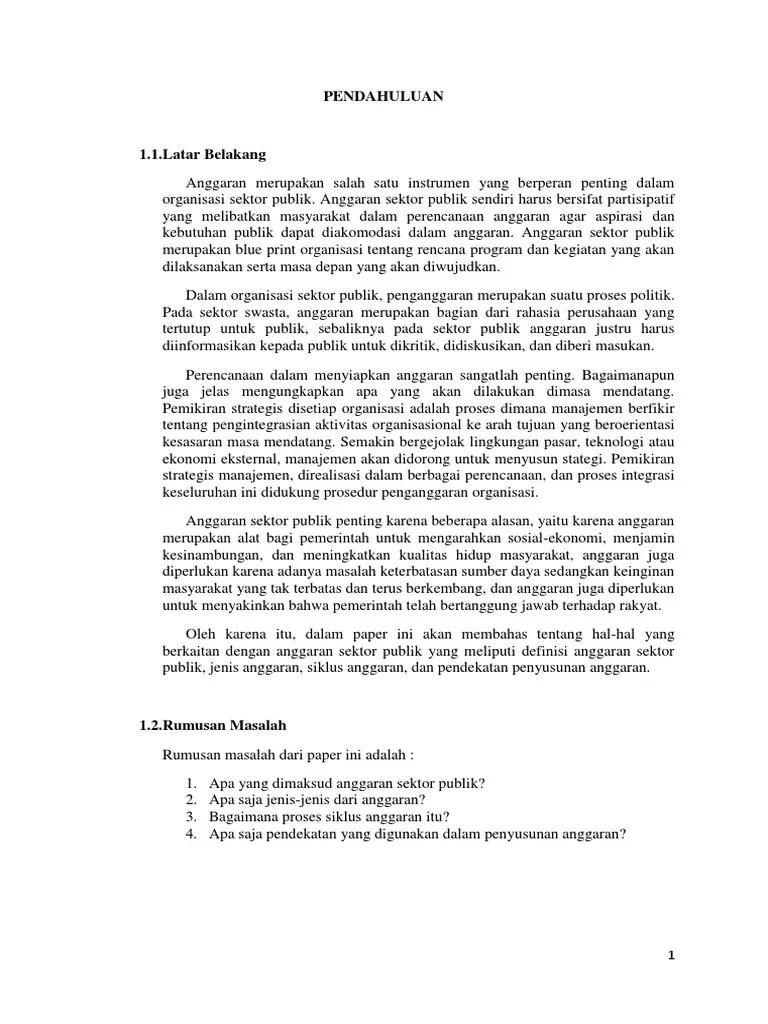 20 Skripsi Akuntansi Manajemen Sektor Publik