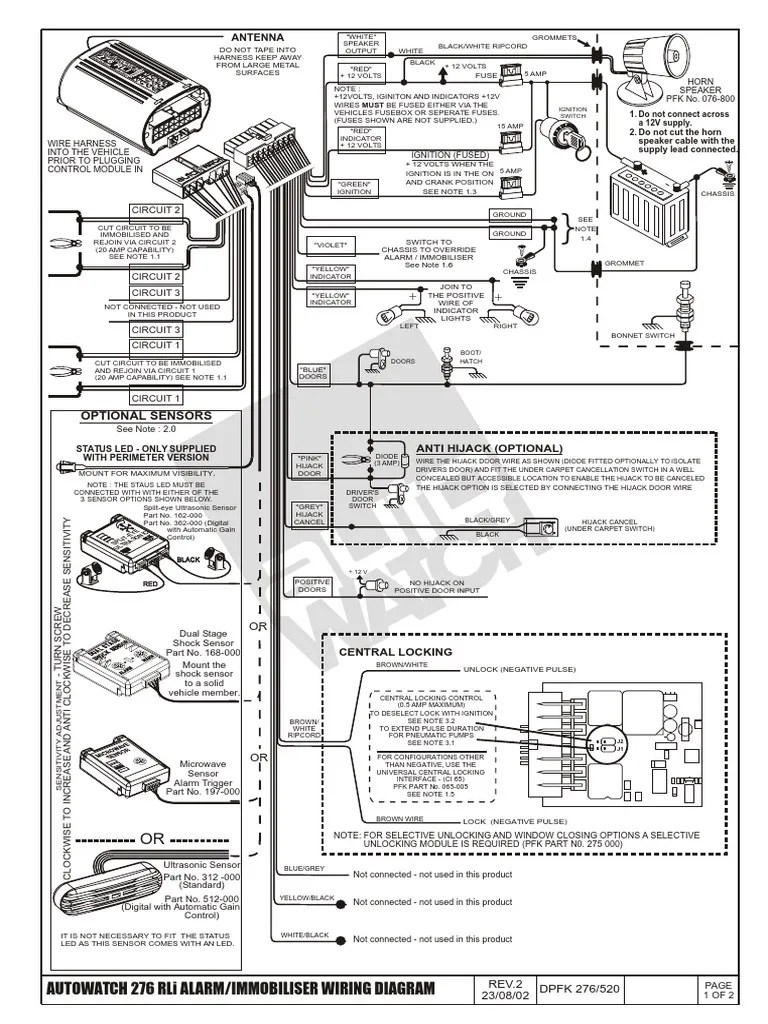 Clifford G4 Alarm Wiring Diagrams Diagram Alarms B134718b