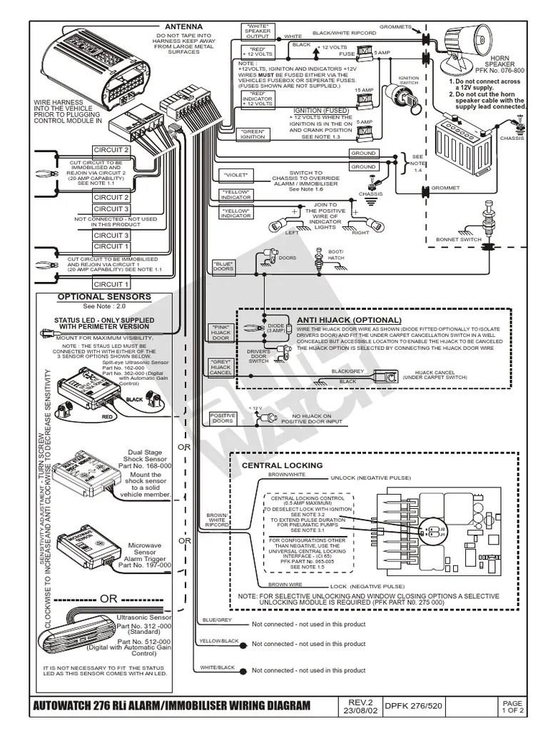 autowatch 276 alarm installation | Flash (Photography