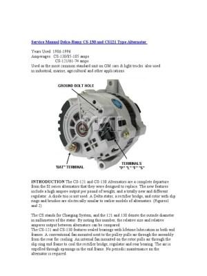 Service Manual DelcoRemy CS130