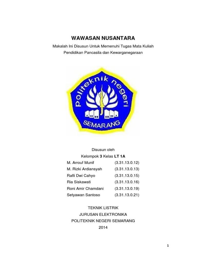 18 Makalah Pancasila Tentang Wawasan Nusantara