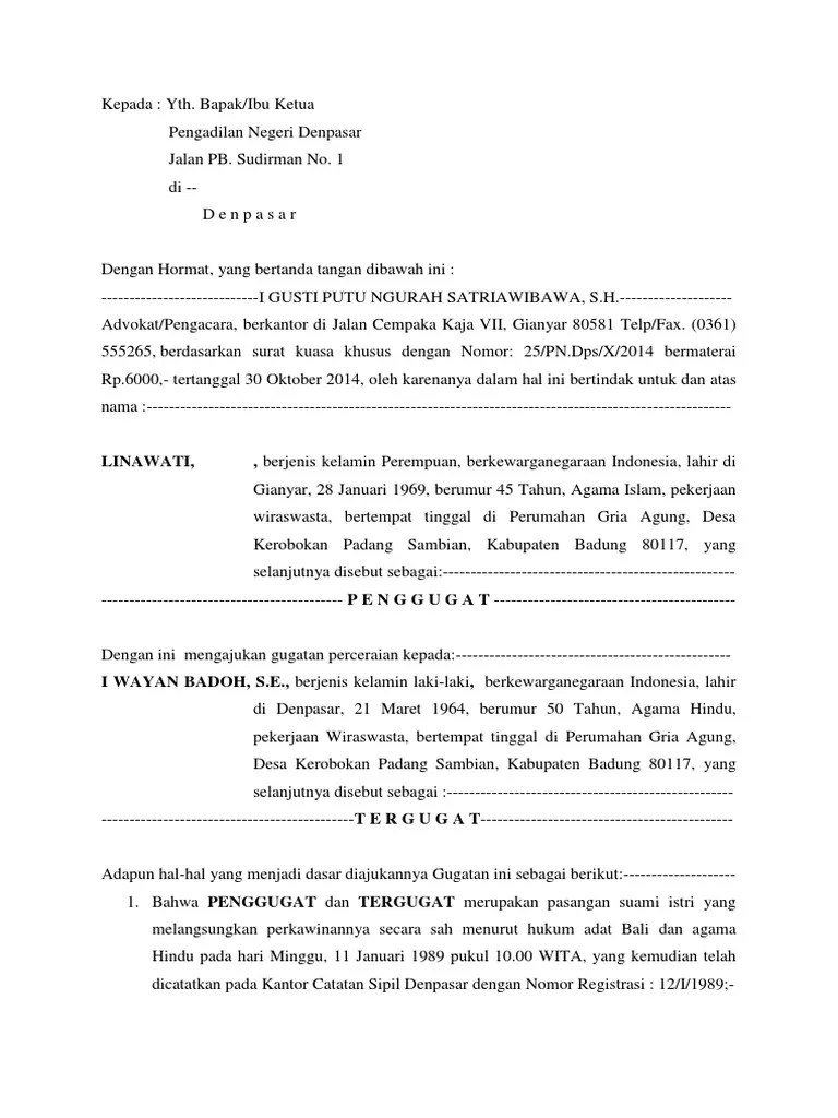 24+ Contoh surat kuasa gugatan cerai terbaru terbaru