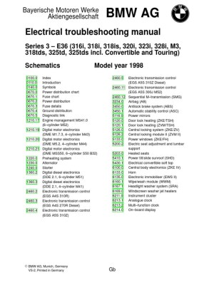 1998 BMW E36 Electrical Wiring Diagram | Vehicle Parts